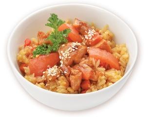 Рис с цыпленком и овощами