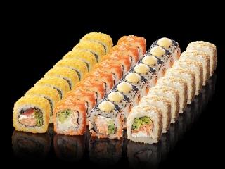 Суши-сет Калифорния с запеченным лососем