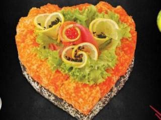 Суши-торт Сердце дракона*