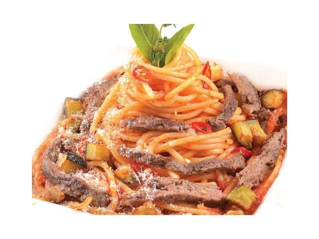 Спагетти с телятиной