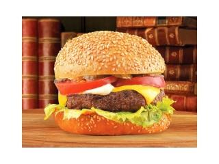 Бургер Нью-Йорк со свино-говяжьей котлетой
