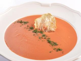 Крем-суп с трюфельной сальсой